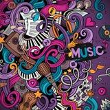 Cartoon hand-drawn doodles Musical illustration Royalty Free Stock Image