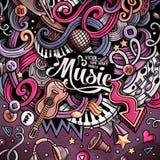 Cartoon hand-drawn doodles Musical illustration Stock Photo