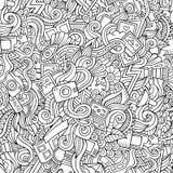 Cartoon hand-drawn doodles of photography Stock Photo