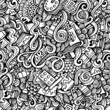 Cartoon hand-drawn doodles on the subject of Art Stock Image