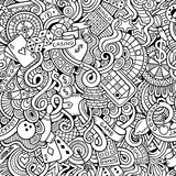 Cartoon hand-drawn doodles on the subject of Royalty Free Stock Photos