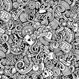 Cartoon hand-drawn doodles on the subject of Royalty Free Stock Photo