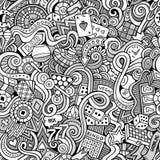 Cartoon hand-drawn doodles on the subject of Stock Photos