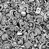 Cartoon hand-drawn doodles on the subject of Casino style theme Stock Images
