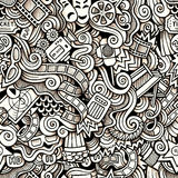 Cartoon hand-drawn doodles on the subject of Stock Images