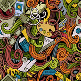 Cartoon hand-drawn doodles on the subject of Design seamless pattern Royalty Free Stock Photography