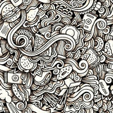 Cartoon hand-drawn doodles on the subject of Fast Stock Image