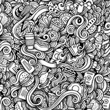 Cartoon hand-drawn doodles on the subject of Fast Stock Images