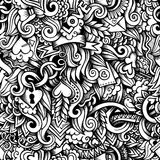 Cartoon hand-drawn doodles on the subject of Love Stock Photography