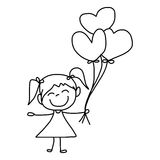 Cartoon hand-drawn love Stock Photography