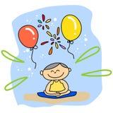 Cartoon hand-drawn meditation Royalty Free Stock Image