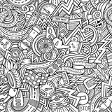Cartoon hand-drawn sketchy doodles on the subject Royalty Free Stock Image