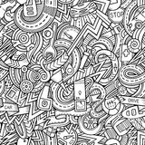 Cartoon hand-drawn sketchy doodles on the subject Stock Photo
