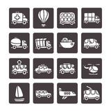 Cartoon hand drawn transport icon set Stock Image