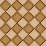 Cartoon hand drown beige and brown diagonal seamless tiles texture Stock Image