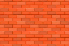 Cartoon hand drown multicolored realistic seamless brick wall texture Royalty Free Stock Photos