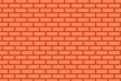 Cartoon hand drown orange realistic seamless brick wall texture Stock Photo