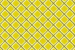 Cartoon hand drown yellow old diagonal seamless tiles texture Royalty Free Stock Photos