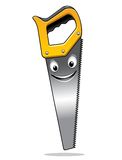 Cartoon hand saw character Stock Photography