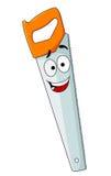 Cartoon hand saw tool with smile Stock Image