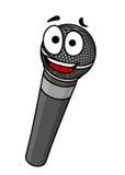 Cartoon handheld microphone stock illustration