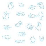 Cartoon Hands collection Stock Photo
