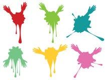 Cartoon Hands with Gestures Stock Image