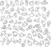 Cartoon Hands Pack Lineart 1 Stock Photos
