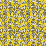 Cartoon Hands seamless pattern Stock Photography