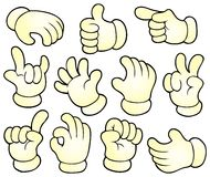 Cartoon hands theme collection 1 Royalty Free Stock Image