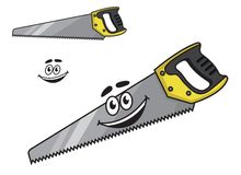 Cartoon handsaw with a happy smile Stock Photography