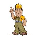 Cartoon Handyman. Cute cartoon handyman illustration. 100% Editable vector. EPS 8.0 Royalty Free Stock Image