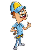 Cartoon handyman giving a thumbs up Royalty Free Stock Photo