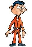 Cartoon handyman with tools Stock Image