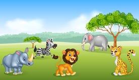 Cartoon happy animal africa Stock Photo