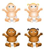 Cartoon Happy Baby Royalty Free Stock Images