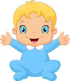 Cartoon happy baby boy Stock Photo