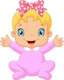 Cartoon happy baby posing Royalty Free Stock Photography