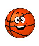 Cartoon happy basketball ball Royalty Free Stock Photos