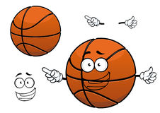 Cartoon happy basketball ball mascot character Stock Photos