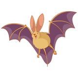 Cartoon happy bat Royalty Free Stock Image