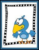 Cartoon happy bird in scrapbooking style Royalty Free Stock Photography