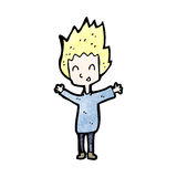 Cartoon happy blond boy Stock Image