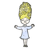 Cartoon happy blond girl Royalty Free Stock Images