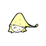 Cartoon happy blond girl's face Royalty Free Stock Photo