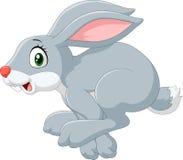 Cartoon happy bunny jumping isolated on white background Royalty Free Stock Photo