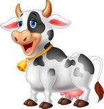 Cartoon Happy cartoon cow Stock Photography