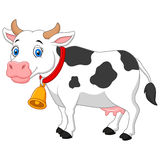 Cartoon Happy cartoon cow Stock Photo