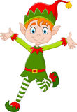 Cartoon happy Christmas elf Royalty Free Stock Photography