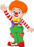 Cartoon happy clown waving hand Stock Photography